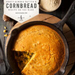 This amazing Eastern Shore Cornbread is accompanied by Honey Almond Butter.