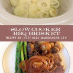 Slow Cooker BBQ Brisket Recipe tall pin