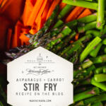 asparagus carrot stir fry tall pin with raw vegetables