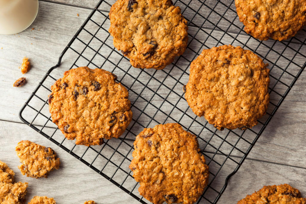 These oatmeal cookies are delicious and really unique because they aren't dry or cakey. The are thinner and crispy.