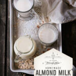 Treat yourself to some homemade almond milk made with Waxing Kara Wildflower Honey. It doesn't take long and lasts a few days in the fridge.