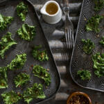 These crunchy, addictive kale chips will have your whole family begging for more kale. They are wonderful served alongside sandwiches, on their own or as a side to dinner.