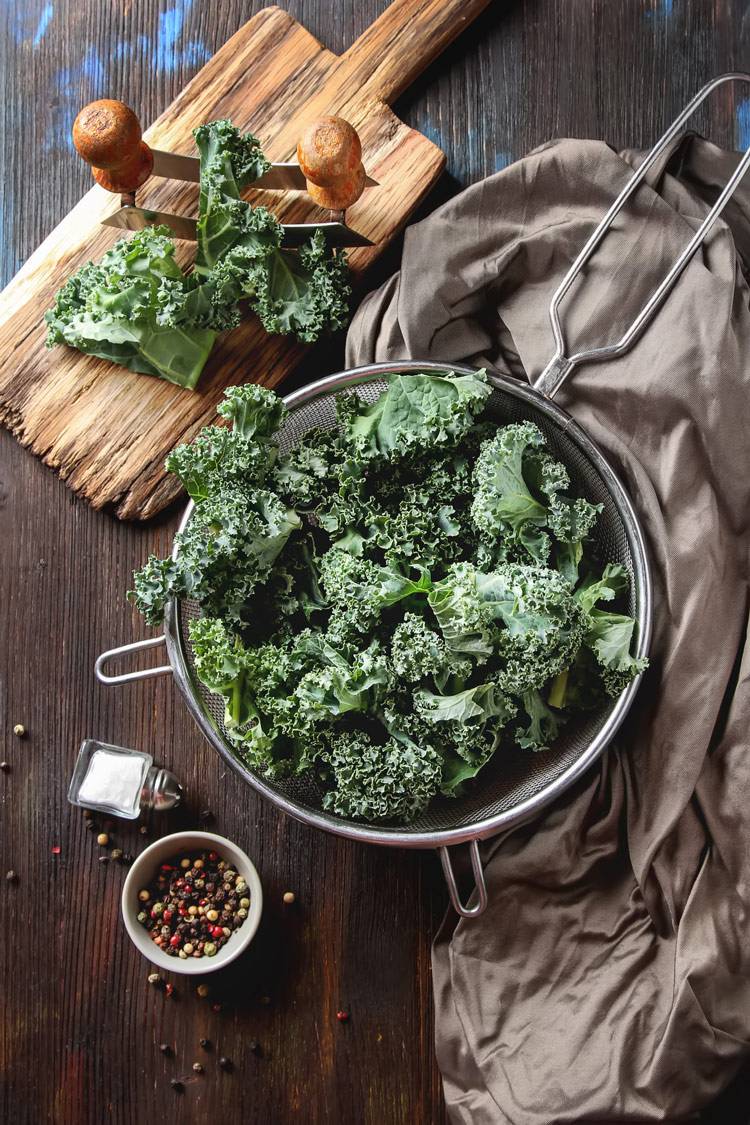 Preparing a delicious kale salad is easy.
