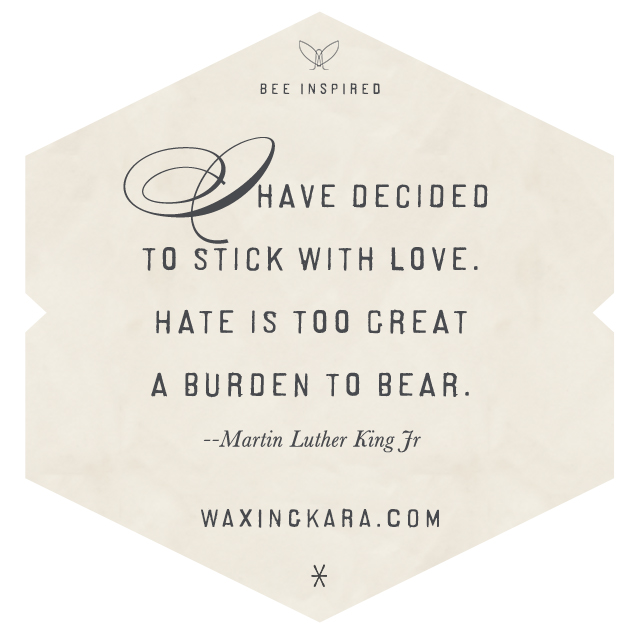 I have decided to stick with love. Hate is too great a burden to bear. --Martin Luther King, Jr. Valentine Quote