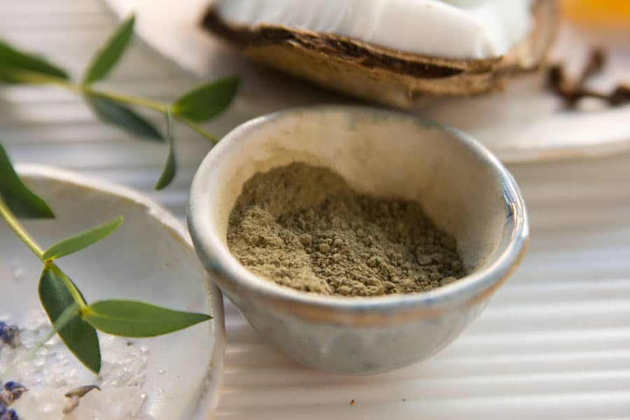 sea and tea dry mask detail with botanicals are helpful in aiding natural sunburn relief