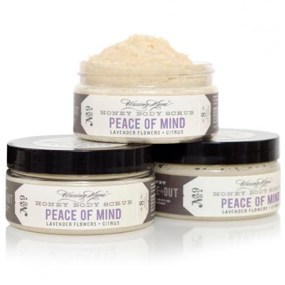 Peace of Mind Body Scrub for ultimate relaxation.
