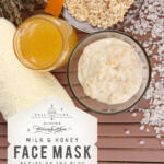 Want glowing skin? Learn how to make this DIY face mask using 4 natural ingredients. Learn the benefits of milk and honey for your skin and get the 7 minute recipe.