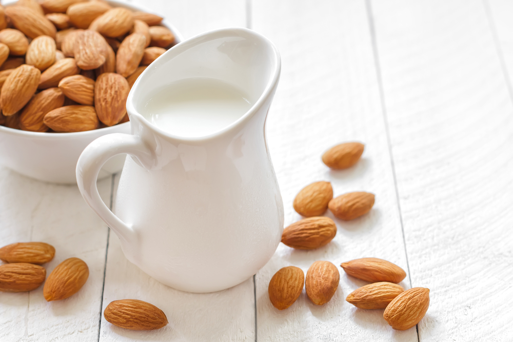 Treat yourself to some homemade almond milk. It doesn't take long and lasts a few days in the fridge.