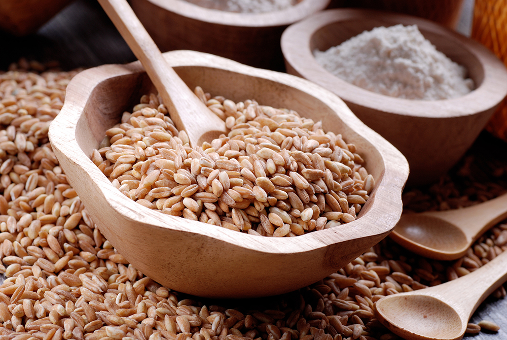 What is Farro? I wasn't sure either. It's an ancient grain similar to bulgur wheat, it looks more like wheat berries and has a texture similar to rice. You can grind it into seminola flour to make your own pizza dough (think spelt flour).