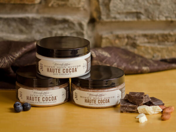 Waxing Kara Haute Cocoa Body Butter, Body Scrub and Renewing Mask