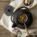 Teapot with botanicals