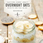overnight oats in celebration of national oatmeal month tall pin