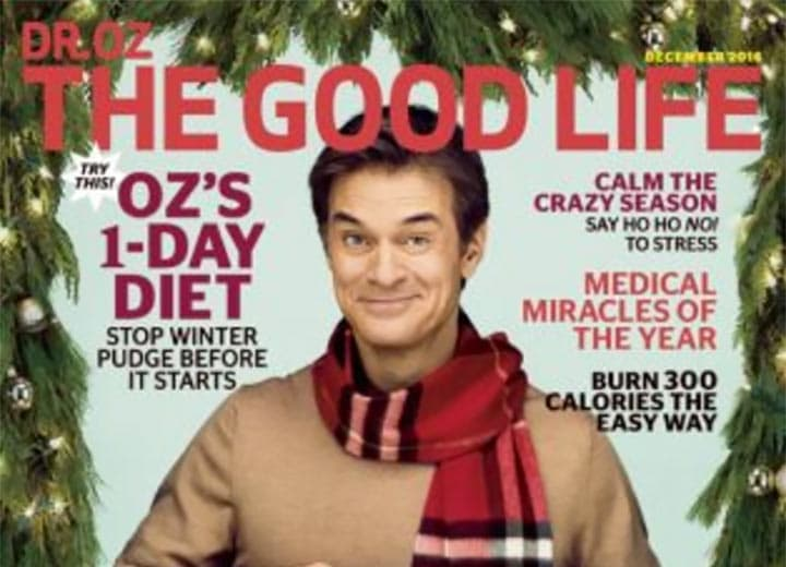 Dr. Oz The Good Life Magazine Dec 2016