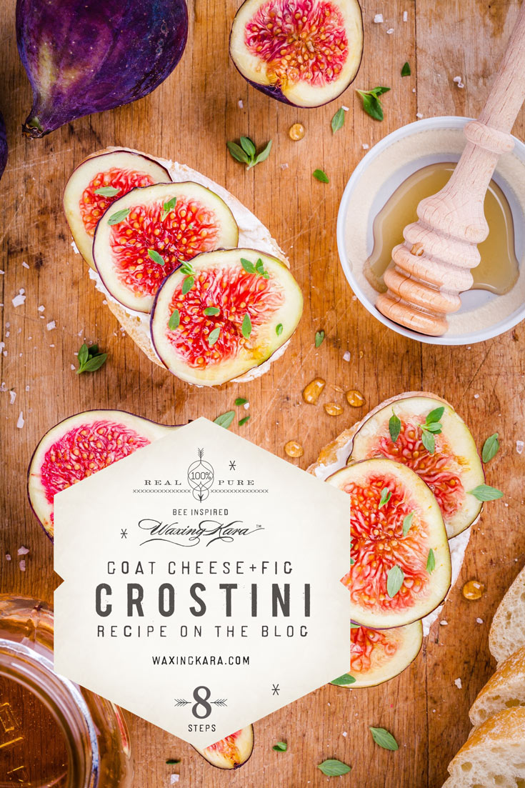 Goat Cheese and fig crostini perfect recipe for your next summer garden party.