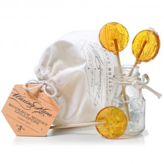 Honey Bourbon Lollipops with bag picture