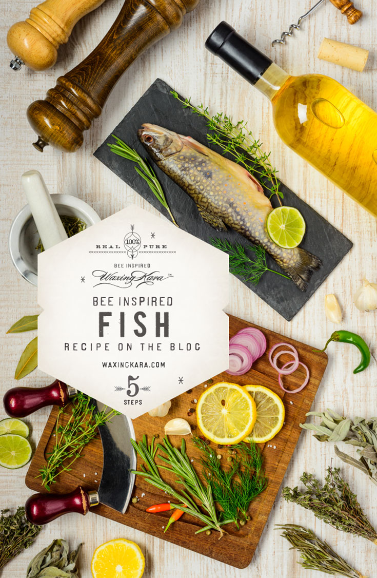 If it weren't for honeybees there would be no almonds or honey, or many of the veggies that we suggest to serve with this bee inspired fish dish. This recipe is all about what appeals to you.