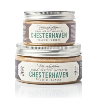 Chesterhaven Salt Scrub in 4oz size and 8oz size on white