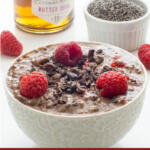 chocolate chia pudding tall pin