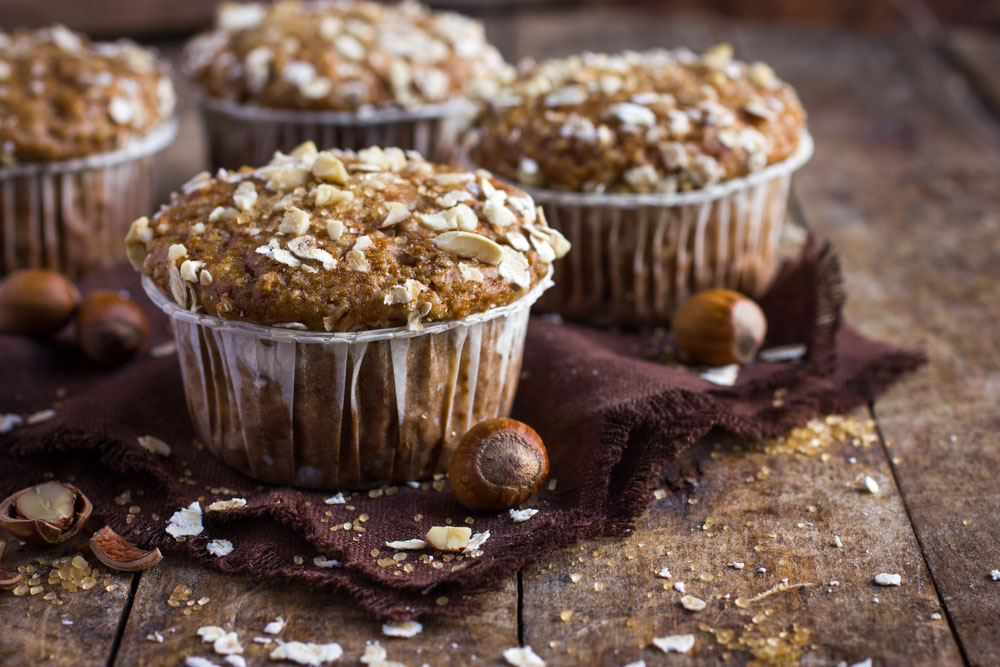 These oat bran muffins are satisfying and guilt-free.