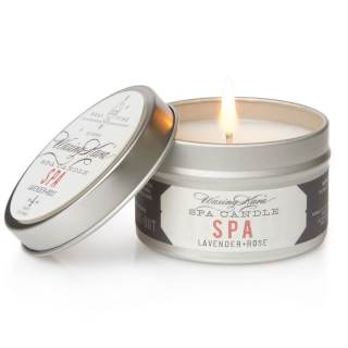 Spa scented candle featuring Lavender and Rose