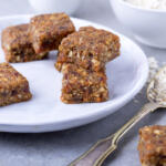 Honey Carrot Cake Bar on a plate