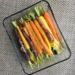 Honey Mustard Roasted Carrots marinating