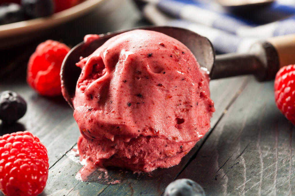 Grilled Strawberry Sorbet