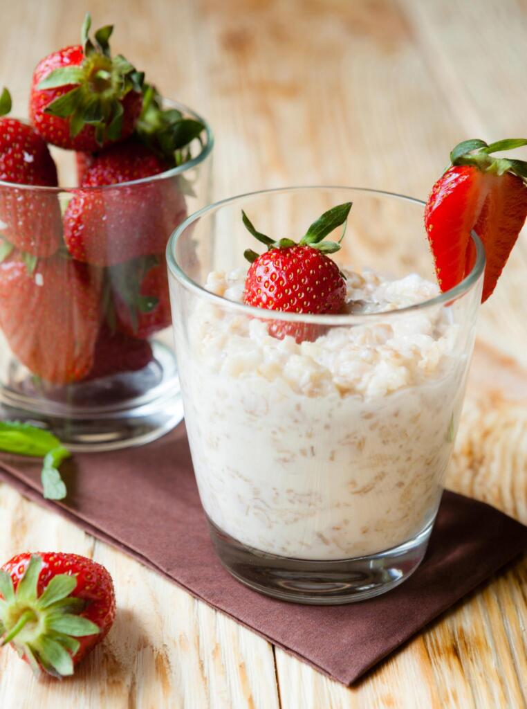 Strawberries and Cream Overnight Oats