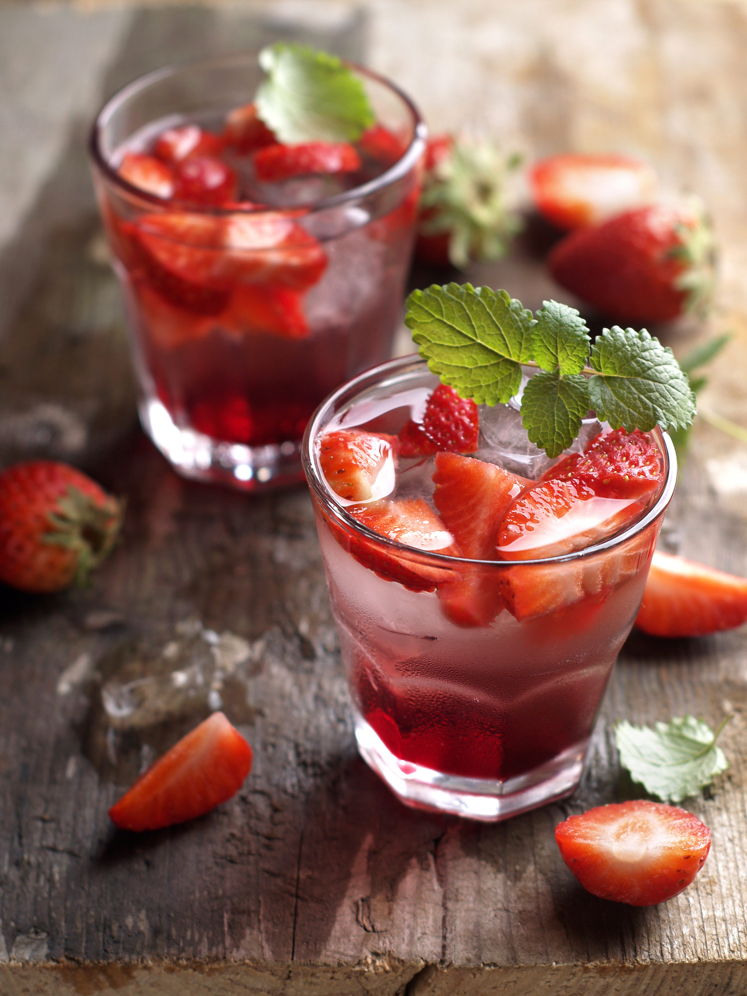 perfect beverage for a light lunch, our Sparkling Strawberry Lemonade ...