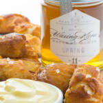 Soft Pretzel Bites with Honey Mustard Dip Tall Pin