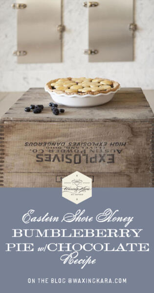 Bumbleberry Pie with Chocolate recipe tall pin