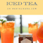 honey and ginger iced tea tall pin
