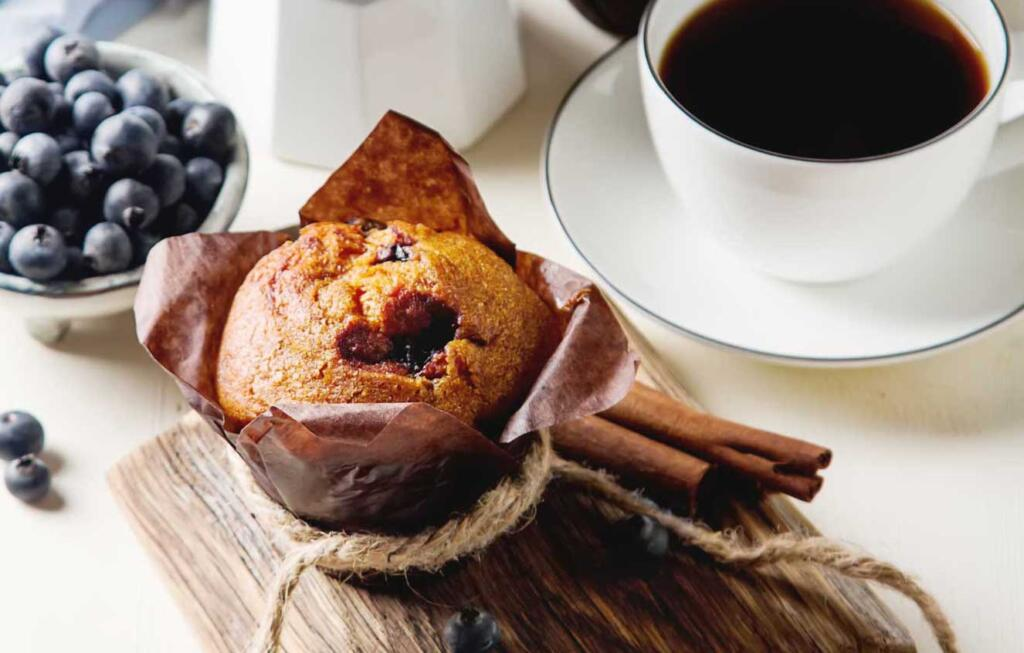 Blueberry honey muffins for national blueberry day