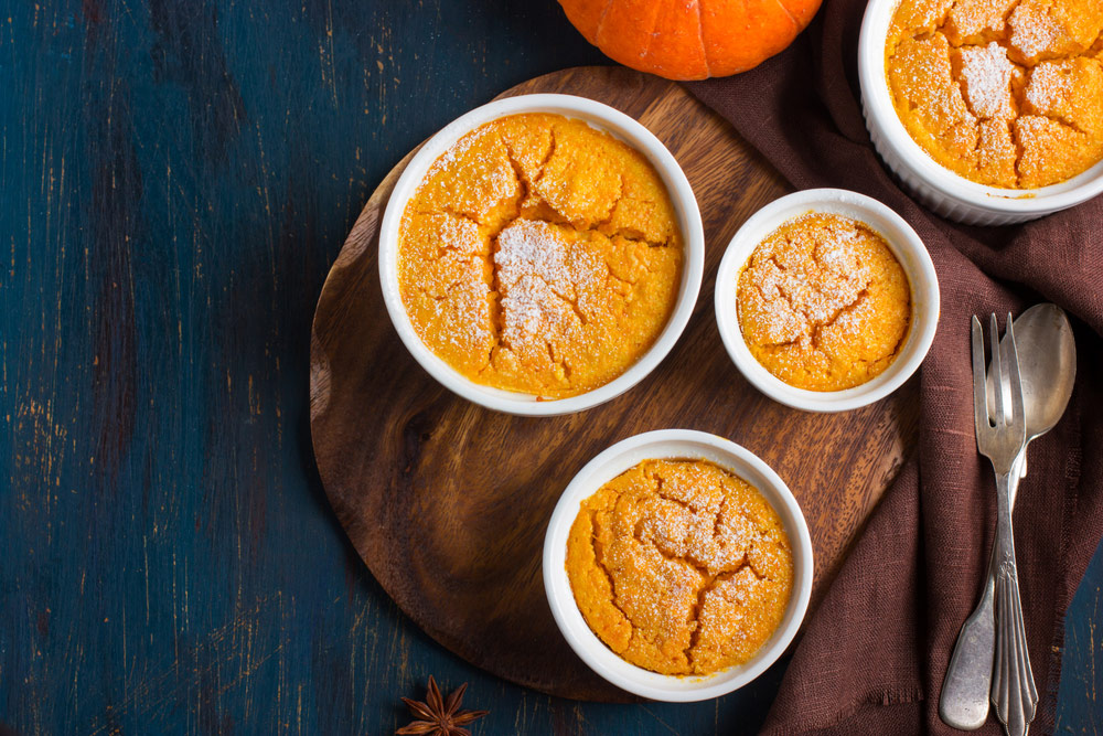 Three Honey Pumpkin Souffle's perfect for fall