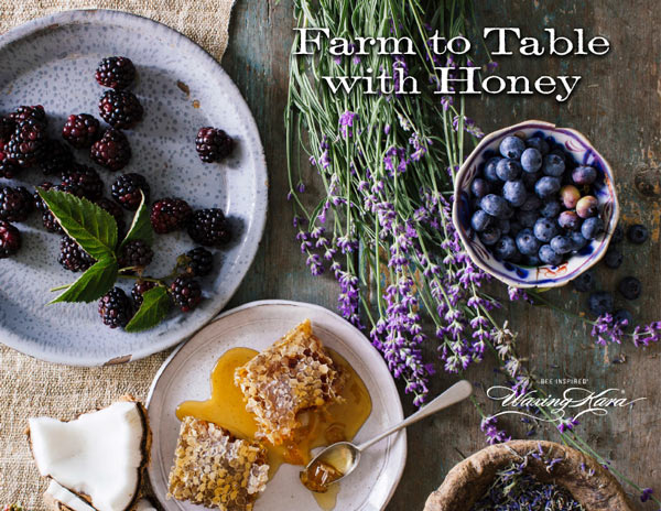Picture of front cover of Waxing Kara Farm to Table with Honey ebook