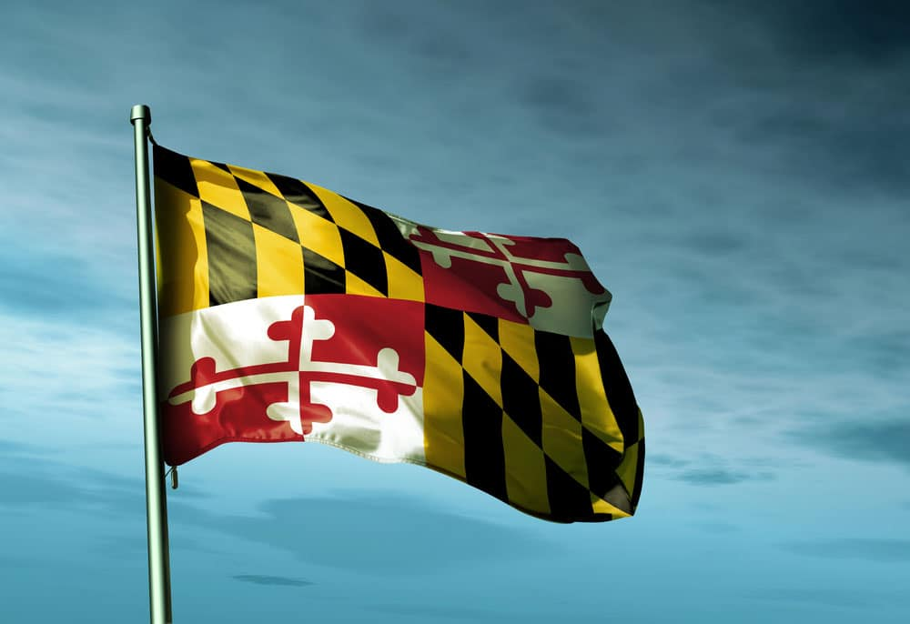 Flag waving for Maryland Day
