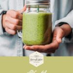 Green Smoothie with Honey pinterest image