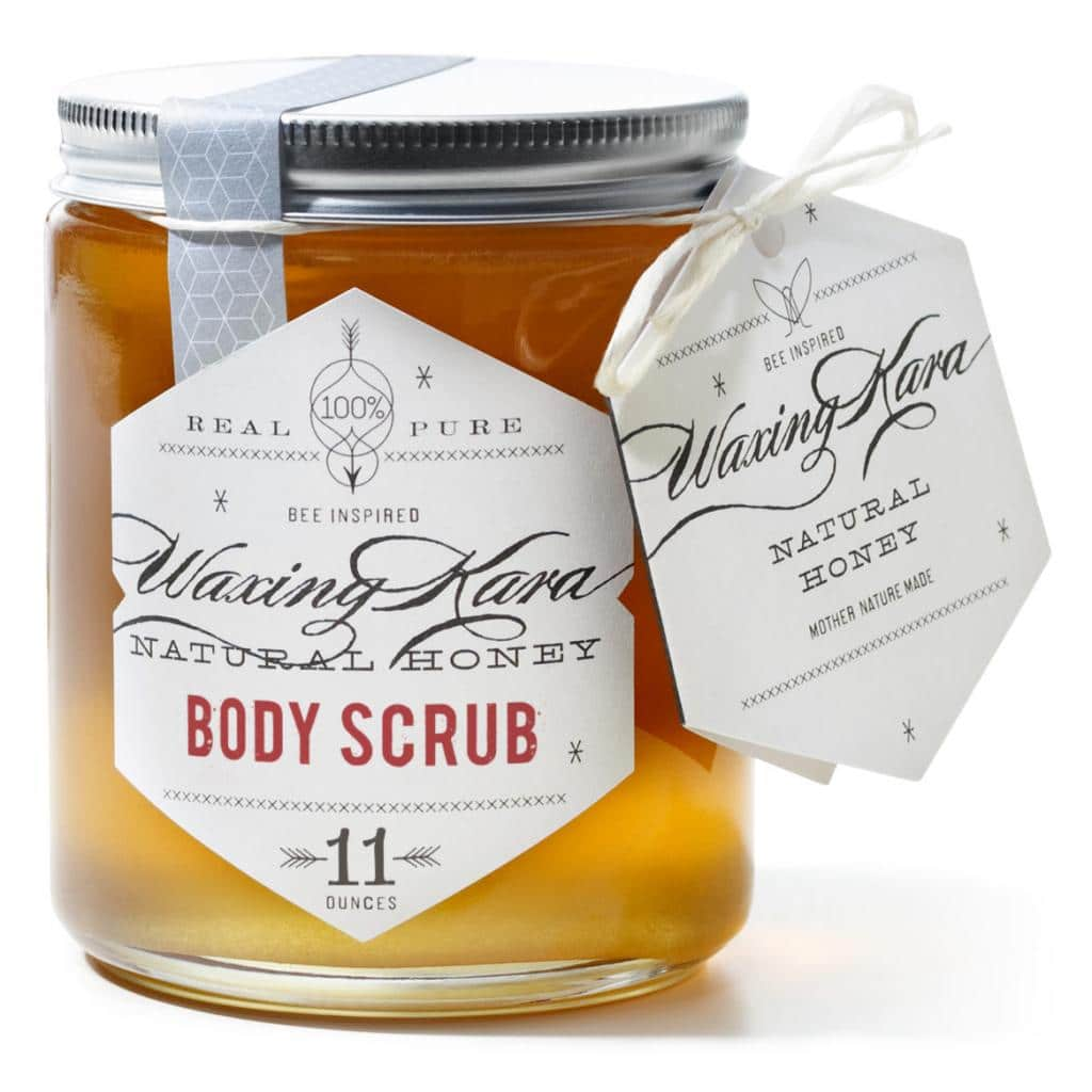 Waxing Kara Honey Original Body Scrub is crystallized honey