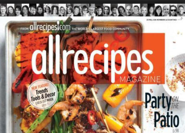 Front cover of allrecipes magazine, May 2017