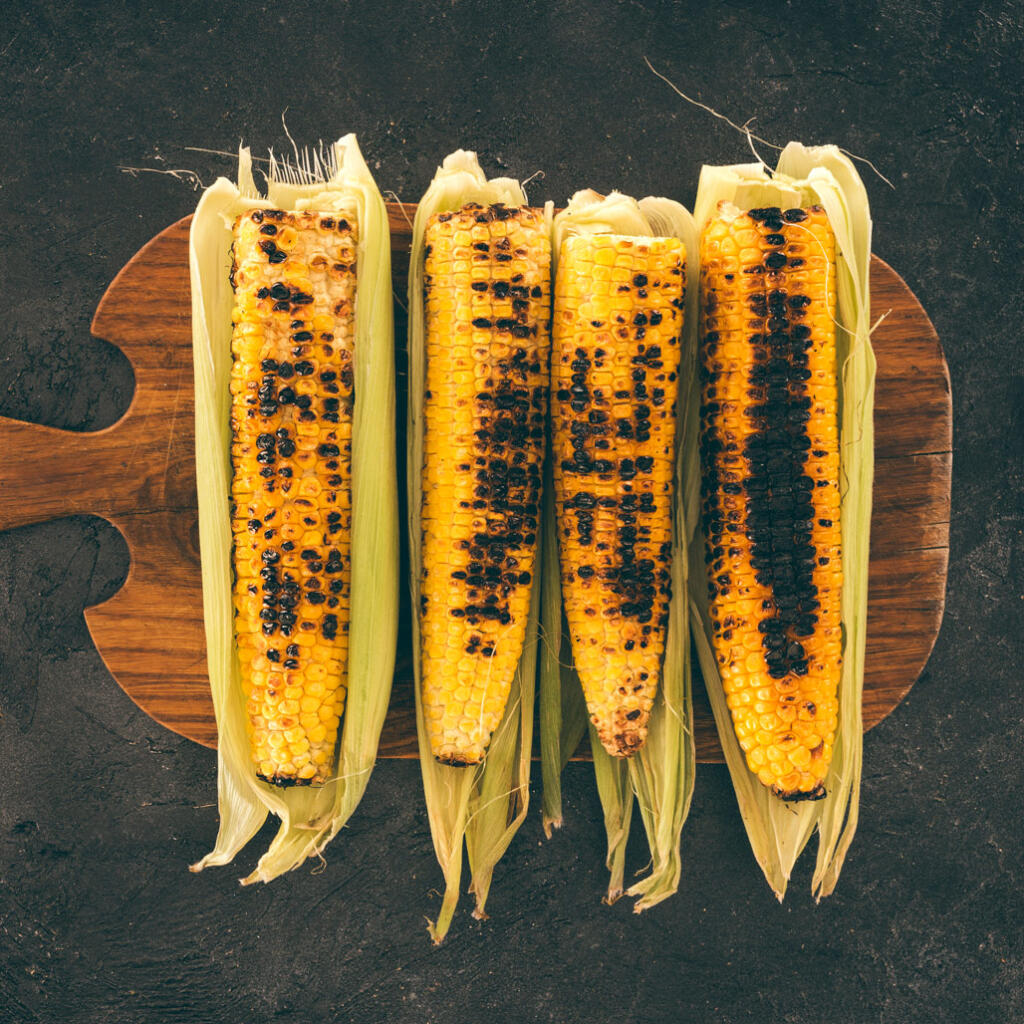 Honey grilled corn