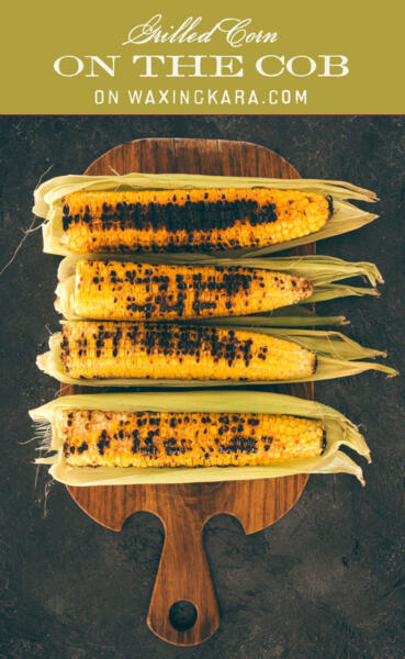 grilled corn on the cob tall pin