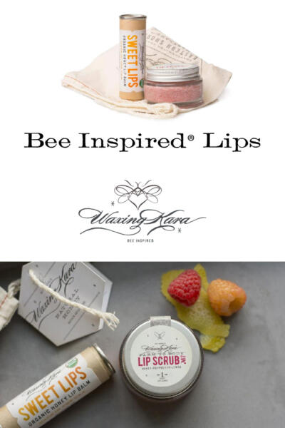 Bee Insipred Lip Gift tall pin