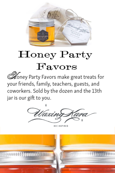 Honey Party Favor Tall Pin