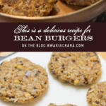 bean burger recipe tall pin
