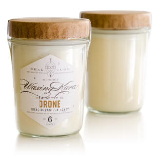 Image of Waxing Kara Drone Soy Candle Jelly Jar on white background