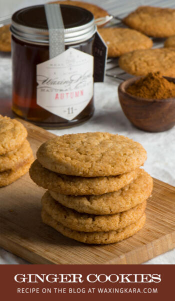 ginger cookies recipe tall pin