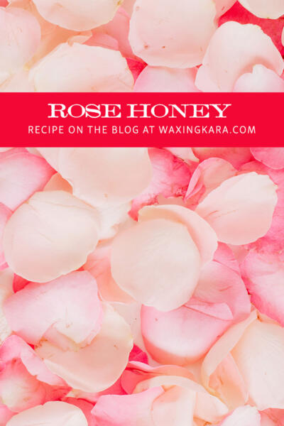 rose honey infusion tall pin