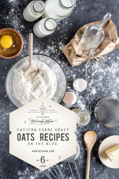 oats recipes raw ingredients on slate