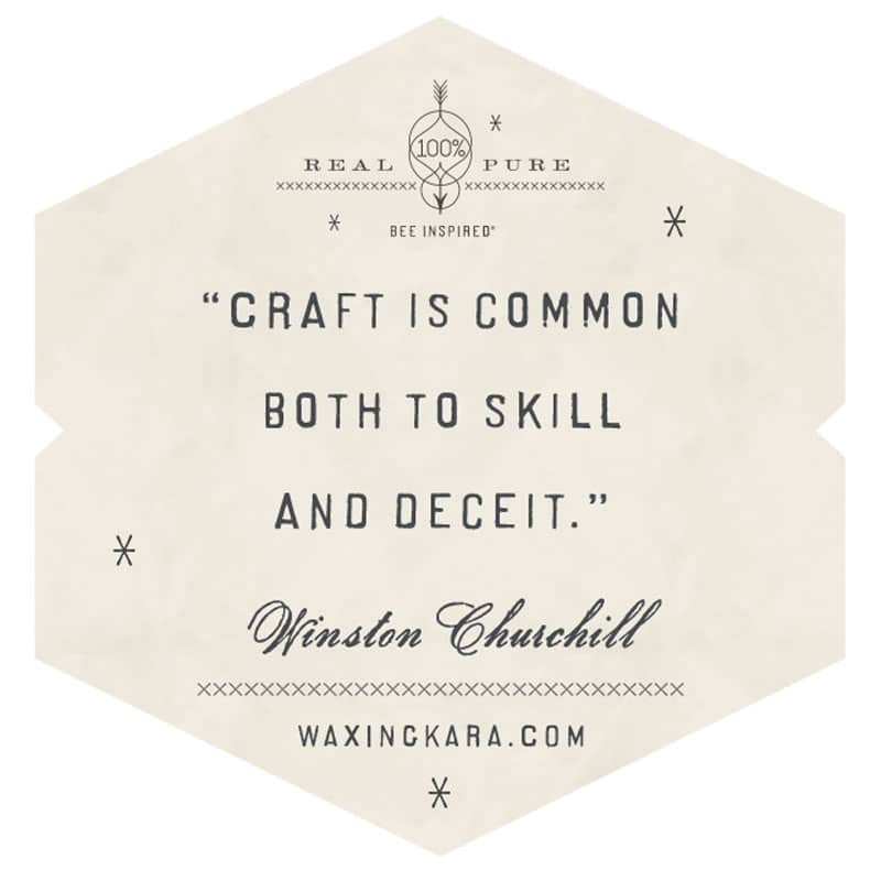 Craft is common both to skill and deceit. Winston Churchill