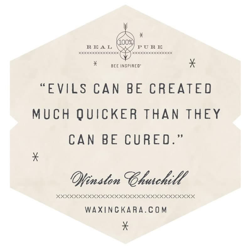 Evils can be created much quicker than they can be cured. Winston Churchill
